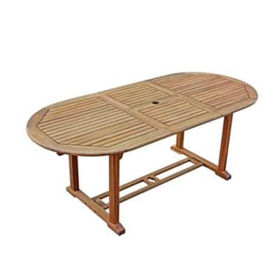 Tavolo da giardino allungabile  rettangolare NATERIAL con piano in legno L 150 x P 90 cm