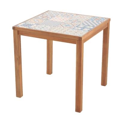 Tavolo da pranzo per giardino quadrata soho in legno l 70 for Tavolo per giardino