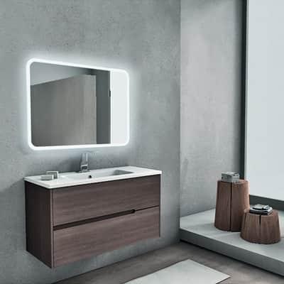 Mobile bagno Moresco rovere L 100 cm