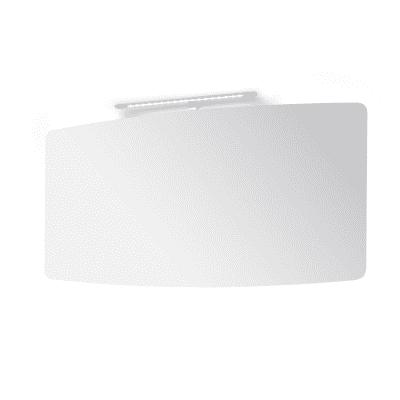 Specchio non luminoso bagno sagomato Contea L 130 x H 70 cm