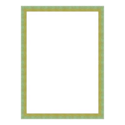 Cornice INSPIRE Bicolor verde / giallo per foto da 21X29,7 cm