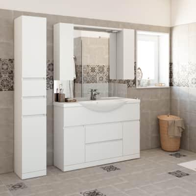 Mobile bagno Elise bianco L 120 cm