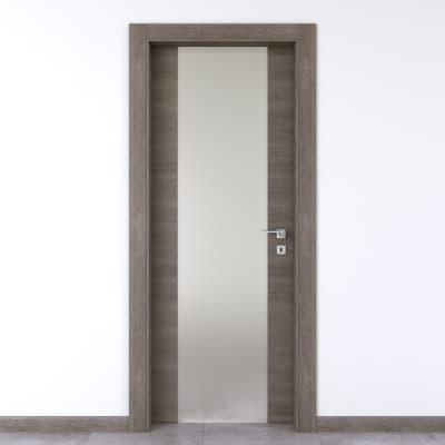 Porta a battente Starwood Vetrata pietra L 60 x H 210 cm sinistra