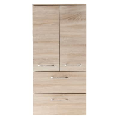 Colonna Solitaire L 60 x P 33 x H 122 cm grigio chiaro