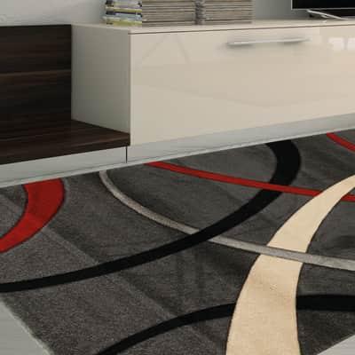 Tappeto Terra rosso e grigio 160x230 cm