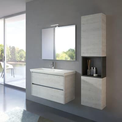 Mobile bagno Style bianco L 84 cm