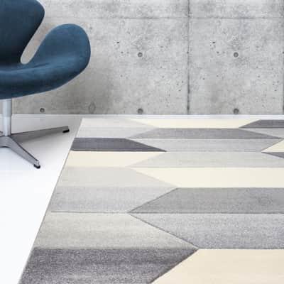 Tappeto Carve Geometric , grigio chiaro, 160x230