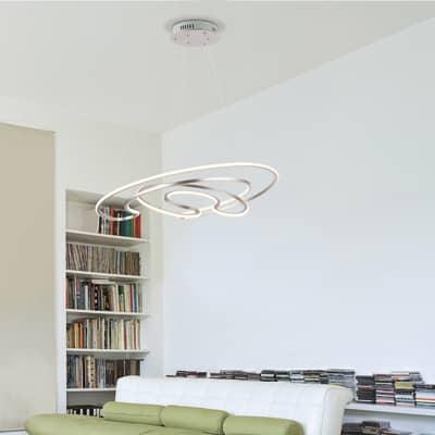 Lampadario Sofia bianco, in acrilico, diam. 53.5 cm, LED integrato 40W 1905LM IP20