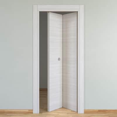 Porta pieghevole Pigalle palissandro bianco L 80 x H 210 cm destra