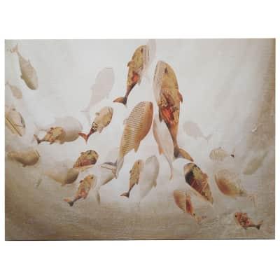 Quadro dipinto a mano Shoal Fish 120x90 cm