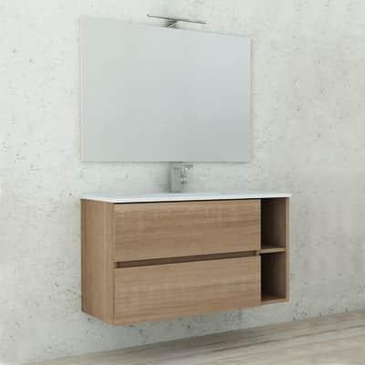 Mobile bagno Piana rovere bruge L 90 cm