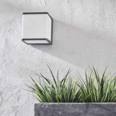 Applique Telin LED integrato in alluminio, antracite, 14.5W 1250LM IP54 INSPIRE