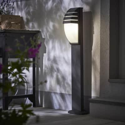 Lampione Pittsburgh H99cm in alluminio, grigio, E27 1xMAX100W IP44 INSPIRE