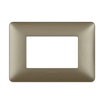 Placca BTICINO Matix 3 moduli titanium