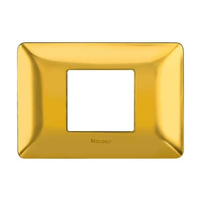 Placca BTICINO Matix 2 moduli oro satinato