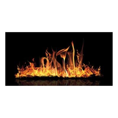Termosifone elettrico radiante DECOWATT fuoco 650 W