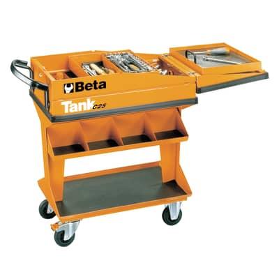 Carrello per officina BETA in metallo 1 ruota 1 cassetto