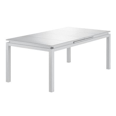 Tavolo da giardino allungabile  rettangolare NATERIAL con piano in vetro L 180 x P 100 cm
