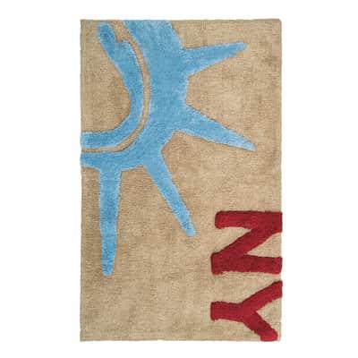 Tappeto bagno rettangolare Warhol in 100% cotone visone 90 x 55 cm