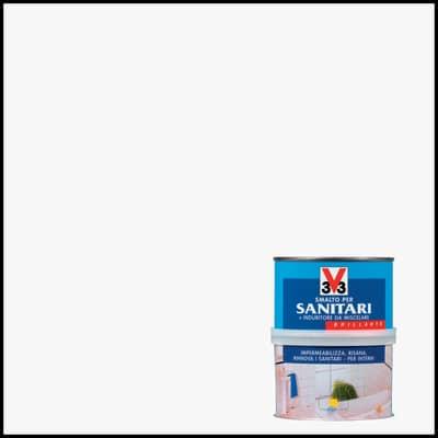 Smalto per sanitari V33 0.5 lbianco
