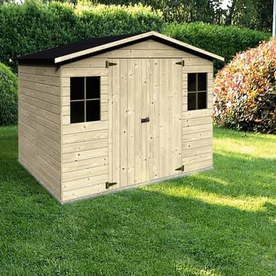 Casetta da giardino in legno Bouganvillea,  superficie interna 3.24 m² e spessore parete 12 mm