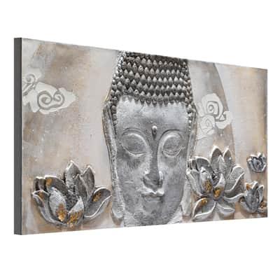 Quadro dipinto a mano Buddha 150x65 cm