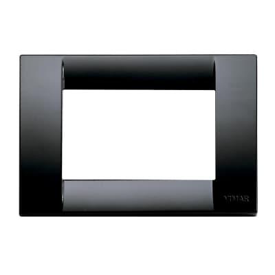 Placca VIMAR Idea 3 moduli nero
