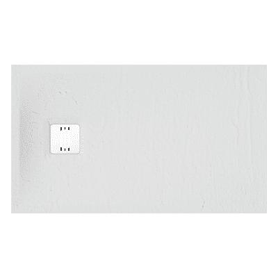 Piatto doccia ultrasottile resina sintetica e polvere di marmo Remix 70 x 120 cm bianco