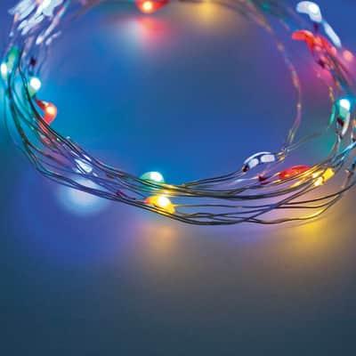 Catena luminosa 40 lampadine LED multicolore 390 cm