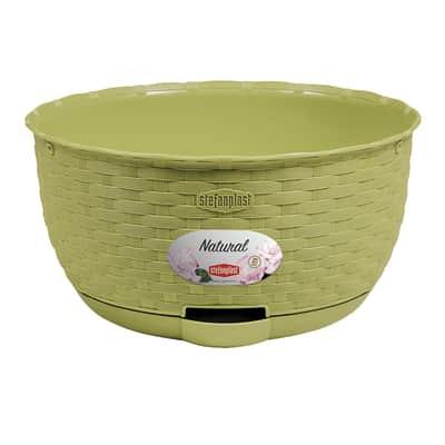 Ciotola Natural STEFANPLAST in polipropilene colore verde pistacchio H 14.5 cm, Ø 30 cm