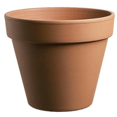 Vaso Comune in terracotta colore cotto H 20.8 cm, Ø 23 cm