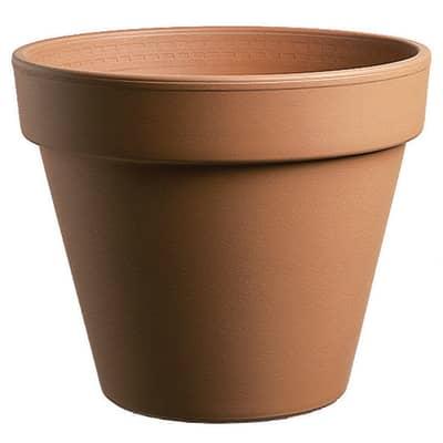 Vaso Comune in terracotta colore cotto H 22 cm, Ø 25 cm