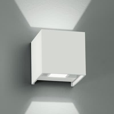 Applique Alfa LED integrato in alluminio, bianco, 4W 360LM IP54