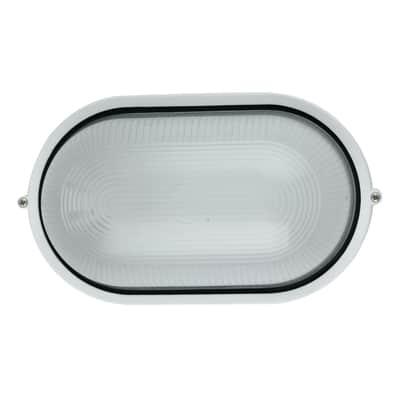 Plafoniera IBIZA-L BCO in alluminio + vetro, bianco, E27 MAX42W IP44