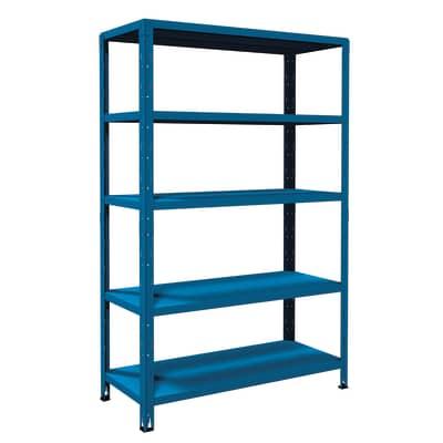 Scaffale in metallo in kit Crosser L 100 x P 50 x H 188 cm blu