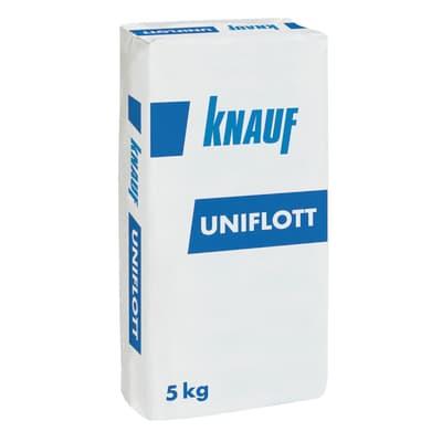 Mastice in pasta in polvere KNAUF Uniflott 5 kg beige e bianco