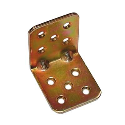 Piastra angolare standers acciaio zincato L 45 x Sp 2.5 x H 40 mm  20 pezzi