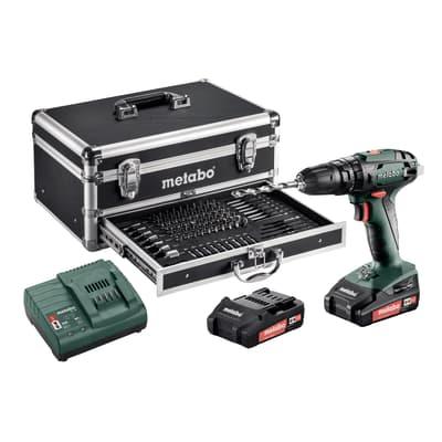 Trapano avvitatore a batteria METABO 18 V, 2 Ah, 2 batterie