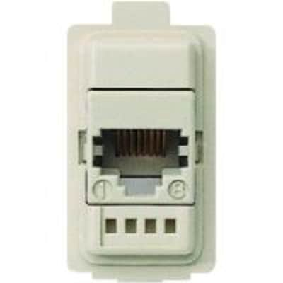 Connettore rj45 BTICINO Magic bianco