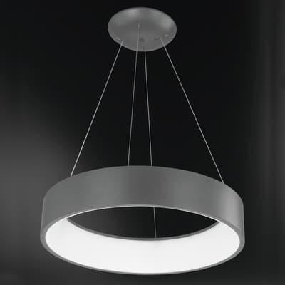 Lampadario Design LEE LED integrato grigio, in metallo, L. 45 cm, WOFI