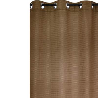 Tenda Solena marrone anelli 140 x 280 cm
