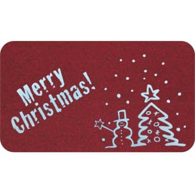Zerbino Dakota Natale in polipropilene rosso