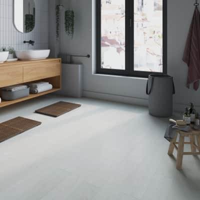 Pavimento pvc flottante clic+ White Sp 3.2 mm bianco