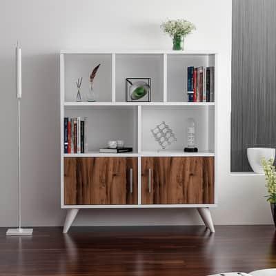 Libreria Ducky L 90 x P 22 x H 105 cm bianco