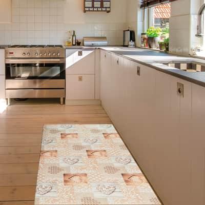Tappeto Cucina antiscivolo Relax grigio medio 230x50 cm