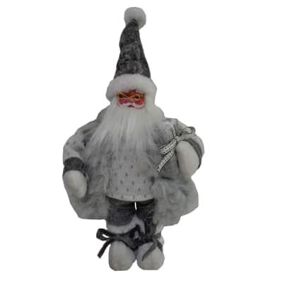 Babbo Natale in tessuto H 43 cm, L 18 cm  x P 13 cm