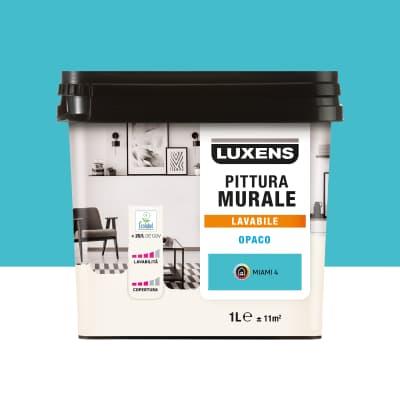 Pittura murale LUXENS 1 L blu miami 4. Prezzo online ...