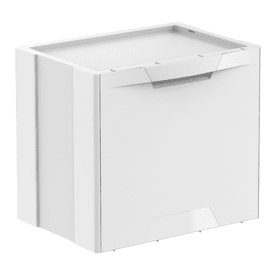 Pattumiera Ecocubes manuale bianco 22 L