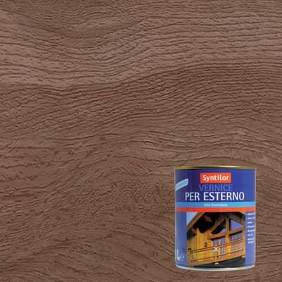 Vernice per legno da esterno liquido SYNTILOR 1 L noce scuro satinato