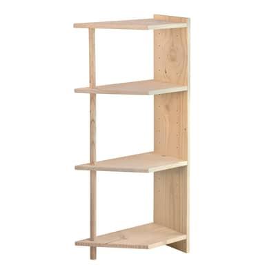Scaffale in legno in kit Gala L 50 x P 25 x H 120.7 cm marrone